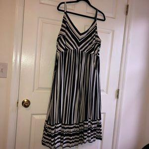 Torrid 2x striped midi dress with pockets